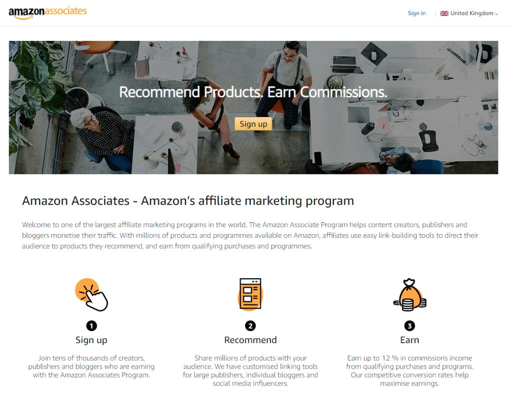 Amazon Associates Affiliate-program